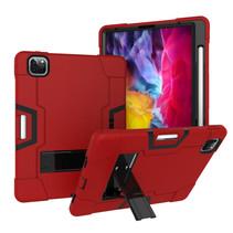 iPad Pro 11 (2020) Hoes - Schokbestendige Back Cover - Hybrid Armor Case - Rood/Zwart