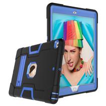 iPad Air 10.5 (2019) Hoes - Schokbestendige Back Cover - Hybrid Armor Case - Zwart/Blauw