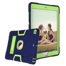 iPad Air 10.5 (2019) Hoes - Schokbestendige Back Cover - Hybrid Armor Case - Blauw/Groen