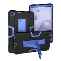 Samsung Galaxy Tab A 8.4 (2020) Hoes - Schokbestendige Back Cover - Hybrid Armor Case - Zwart/Blauw