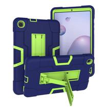 Samsung Galaxy Tab A 8.4 (2020) Hoes - Schokbestendige Back Cover - Hybrid Armor Case - Blauw/Groen