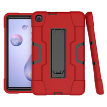 Samsung Galaxy Tab A 8.4 (2020) Hoes - Schokbestendige Back Cover - Hybrid Armor Case - Rood/Zwart