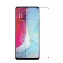 Oppo Reno 3 Screenprotector - Tempered glass Screenprotector - Case-Friendly