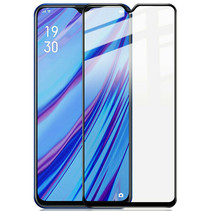 Oppo Reno 3 Screenprotector - Full Cover Screenprotector - Zwart