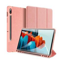 Samsung Galaxy Tab S7 Plus hoes - Dux Ducis Domo Book Case - Roze