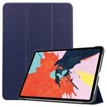iPad Air 10.9 (2020) hoes - Tri-Fold Book Case - Magneetsluiting - Sleep/Wake functie - Donker blauw