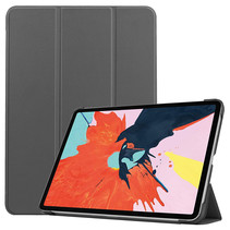 iPad Air 10.9 (2020) hoes - Tri-Fold Book Case - Magneetsluiting - Sleep/Wake functie - Grijs