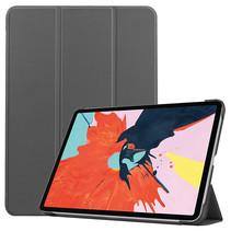 iPad Air 2020 hoes - 10.9 Inch - Tri fold Book Case - Grijs