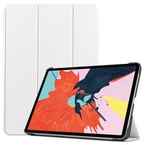 iPad Air 10.9 (2020) hoes - Tri-Fold Book Case - Magneetsluiting - Sleep/Wake functie - Wit