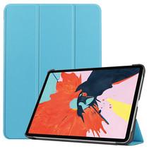 iPad Air 2020 hoes - 10.9 Inch - Tri fold Book Case - Licht Blauw