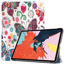 iPad Air 10.9 (2020) hoes - Tri-Fold Book Case - Magneetsluiting - Sleep/Wake functie - Vlinders