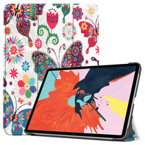 iPad Air 2020 hoes - 10.9 Inch - Tri fold Book Case - Vlinders