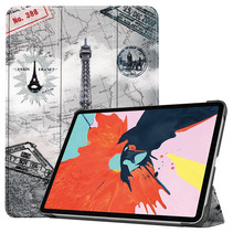 iPad Air 2020 hoes - 10.9 Inch - Tri fold Book Case - Eiffeltoren