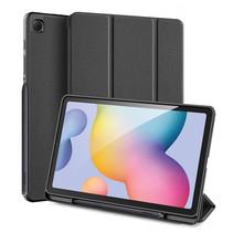 Samsung Galaxy Tab S6 Lite hoes - Dux Ducis Domo Book Case met Stylus Pen Houder - Zwart