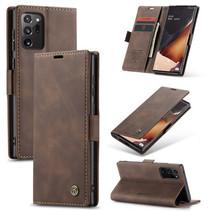 CaseMe - Samsung Galaxy Note 20 hoesje - Wallet Book Case - Magneetsluiting - Donker Bruin
