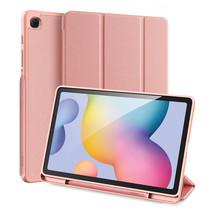 Samsung Galaxy Tab S6 Lite Hoes - Dux Ducis Domo Book Case met Stylus Pen Houder - Roze