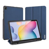 Samsung Galaxy Tab S6 Lite Hoes - Dux Ducis Domo Book Case met Stylus Pen Houder - Blauw