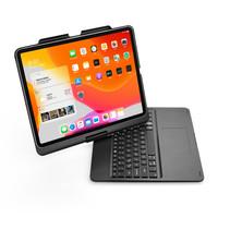 iPad Pro 12.9 (2020) - QWERTY - Bluetooth Toetsenbord hoes - Toetsenbord verlichting en Touchpad - 360 graden draaibaar -Zwart