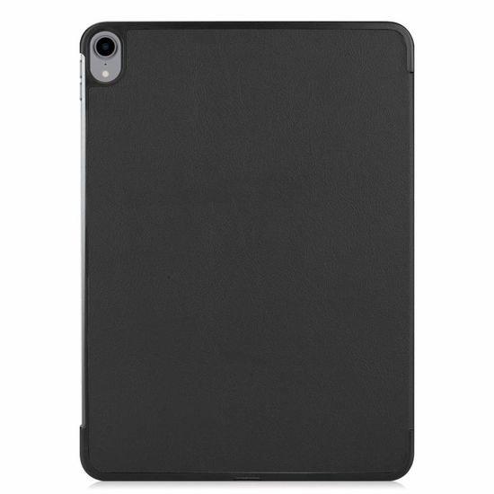 Case2go iPad Air 2020 Hoes - 10.9 inch - Tri-Fold Book Case met Apple Pencil Houder - Zwart