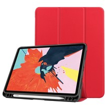 iPad Air 2020 Hoes - 10.9 inch - Tri-Fold Book Case met Apple Pencil Houder - Rood
