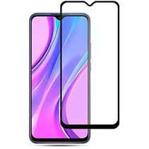 Xiaomi Redmi 9C Screenprotector - Full Cover Screenprotector - Zwart
