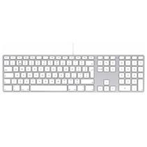 LMP - Aluminium toetsenbord voor Apple iMac met dubbele USB aansluiting en numeriek keyboard - Bedraad - 110 keys - QWERTY (NL) indeling (ISO) - Zilver/Wit