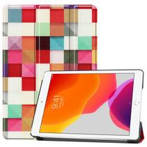 iPad 2020 hoes - 10.2 inch - Tri-Fold Book Case - Blocks