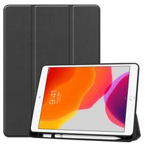 iPad 2020 Hoes - 10.2 inch - Tri-Fold Book Case met Stylus Pen Houder - Zwart