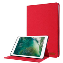 iPad 2020 hoes - 10.2 inch - Book Case met Soft TPU houder - Rood