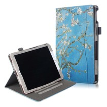 iPad 2020 hoes - 10.2 inch - Wallet Book Case - Witte Bloesem