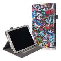 iPad 2020 hoes - 10.2 inch - Wallet Book Case - Graffiti