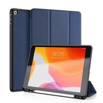 iPad 2020 hoes - 10.2 inch - Dux Ducis Domo Book Case met Stylus pen houder - Blauw