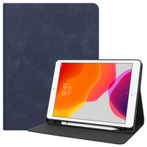 iPad 2020 hoes - 10.2 inch - PU Leer Folio Book Case - Donker Blauw