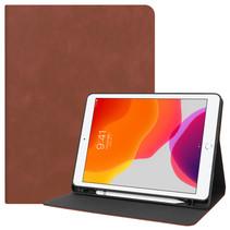 iPad 2020 hoes - 10.2 inch - PU Leer Folio Book Case - Bruin