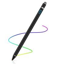 Active Stylus Pen - Oplaadbare Dual Touch Pen voor Tablet en Telefoon - Zwart