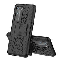 Huawei P40 Pro Plus Hoesje - Schokbestendige Back Cover - Zwart