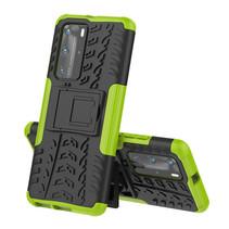 Huawei P40 Pro Plus Hoesje - Schokbestendige Back Cover - Groen