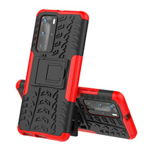 Huawei P40 Pro Plus Hoesje - Schokbestendige Back Cover - Rood