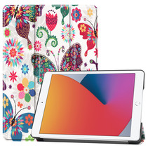 iPad 2020 hoes - 10.2 inch - Tri-Fold Book Case - Vlinders