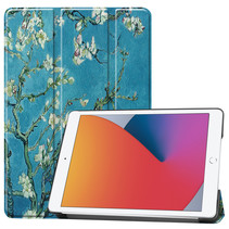 iPad 2020 hoes - 10.2 inch - Tri-Fold Book Case - Witte Bloesem
