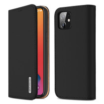 iPhone 12 hoesje - Dux Ducis Wish Wallet Book Case - Zwart