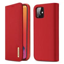 iPhone 12 hoesje - Dux Ducis Wish Wallet Book Case - Rood