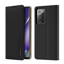 Samsung Galaxy Note 20 hoesje - Dux Ducis Wish Wallet Book Case - Zwart