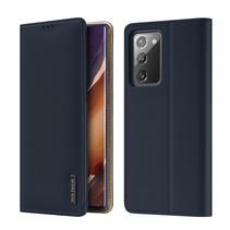 Samsung Galaxy Note 20 hoesje - Dux Ducis Wish Wallet Book Case - Blauw