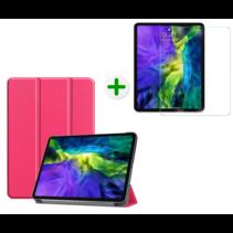 iPad Pro 2020 Hoes en Screenprotector - 11 inch - Tablet hoes en Screenprotector - Magenta