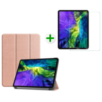 iPad Pro 2020 Hoes en Screenprotector - 11 inch - Tablet hoes en Screenprotector - Rosé Goud