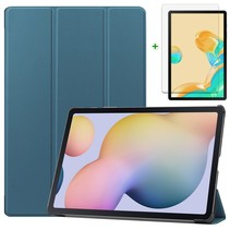 Samsung Galaxy Tab S7 Plus Hoes en Screenprotector - 12.4 inch - Tablet hoes en Screenprotector  - Cyaan
