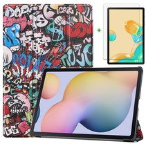 Samsung Galaxy Tab S7 Plus Hoes en Screenprotector - 12.4 inch - Tablet hoes en Screenprotector  - Graffiti