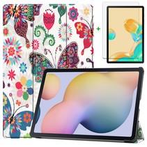 Samsung Galaxy Tab S7 Plus Hoes en Screenprotector - 12.4 inch - Tablet hoes en Screenprotector  - Vlinders