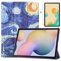 Samsung Galaxy Tab S7 Plus Hoes en Screenprotector - 12.4 inch - Tablet hoes en Screenprotector  - Sterrenhemel